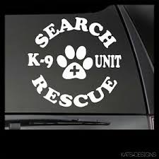Search Rescue K9 Vinyl Decal Car Truck Window Sticker Search And Rescue K9 39 Ebay