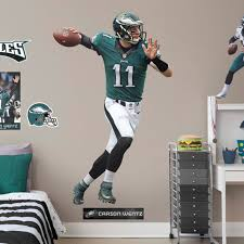 Carson Wentz Philadelphia Eagles Fathead Life Size Removable Wall Decal