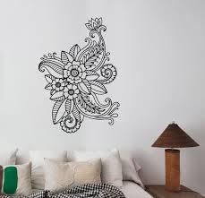 Mehndi Wall Decal Henna Paisley Flowers Vinyl Sticker Floral Etsy