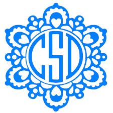Three Letter Monogram 3 Initial Monogram Decal Sticker Yet Decal Initial Tumbler Decal Laptop Decal Mandala Car Decal Wish