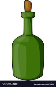 wine bottle icon cartoon style vector image