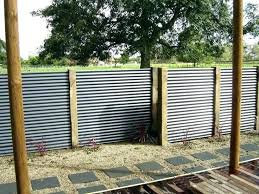 corrugated metal fence cost how to