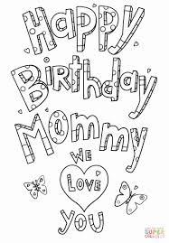 28 Happy Birthday Mommy Coloring Page In 2020 Verjaardag Mama