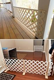 Simple Epic Ways To Use Latice In Your Household Diy Dog Gate Diy Baby Gate Outdoor Dog Gate