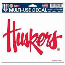 Nebraska Huskers Ultra Decal Team Logo 5 X6 Clear Window Film Ebay