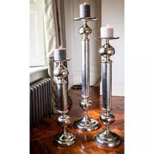 large aluminium pillar candle holder