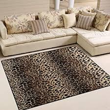 alaza leopard print vintage area rug