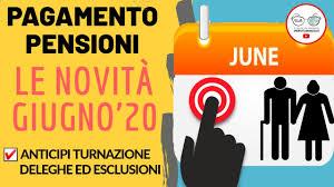 PENSIONI GIUGNO 2020: le Novità! CALENDARIO ANTICIPI ESCLUSIONI ...