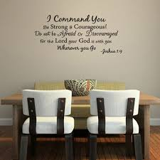 Shop I Command You Vinyl Quote Wall Decal Joshua 1 9 God Scripture Bible Word Overstock 17292398