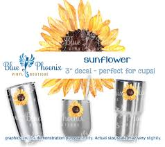 Sunflower Color Cup Decal Blue Phoenix Vinyl Boutique
