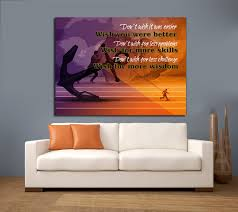 Don T Wish It Was Easier Wish You Were Better Framed Canvas Wall Art M