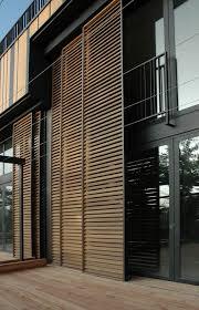 sliding exterior louver system villa
