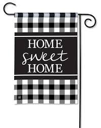 black white check garden flag home