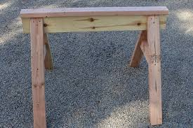 homemade sawhorse plans simple