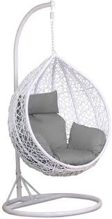 yaheetech rattan swing chair hanging