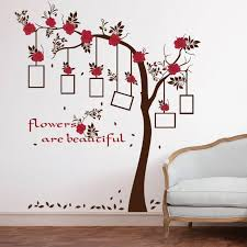 Large Plum Blossom Flower Tree Photo Frame Wall Sticker Wall Decals Kids Room Wall Mural Home Decor Home Decoration Wallpaper Wall Stickers Aliexpress