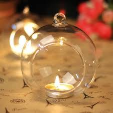 10cm hanging glass candle holders glass