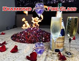 fireplace glass crystals diamond fire