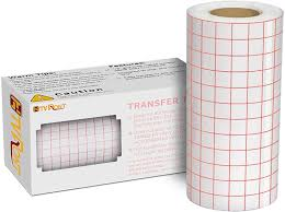 Amazon Com Clear Vinyl Transfer Paper Tape Roll 6 X 50 Feet Clear W Red Alignment Grid Application Transfer Tape Perfect For Cricut Cameo Self Adhesive Vinyl For Signs Stickers Decals Walls Doors
