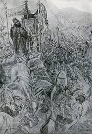 The Fight about the Chariot of Darius at Issus stock image | Look and Learn