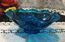 vintage viking glass blue bluenique