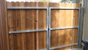 Metal Gate Frame Wooden Fence Metal Frame Gates From All State Fence Supply Metal Gate Frame Steel Framed Wood Gates Custom Steel Framed And Wood Framed Gates In Lakewood And Bellflower