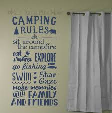 Camping Rules Subway Art Quotes Wall Letters For Summertime Wall Stickers Decal