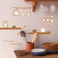 Happy Kitchen Wall Decal Sticker Home Decor Diy Removable Art Vinyl Mural For Kitchen Cabinet Dining Room Qtb550 Cartoon Buy At The Price Of 5 90 In Aliexpress Com Imall Com