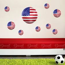 Team Usa 3d Soccer Ball Wall Stickers Etsy