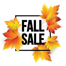 Autumn sale seasonal banner or poster design Clipart Image