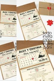Invitacion Calendario Kraft Invitaciones Invitacion Boda
