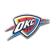 Oklahoma City Thunder Die Cut Metal Auto Emblem New Car Decal Sticker Aluminum 681620632316 Ebay