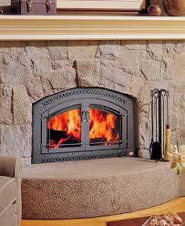 wood burning fireplace building the