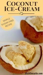 sugar free coconut ice cream