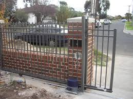 Brick And Iron Fence Ideas Google Search Brick Fence Iron Fence Fence Gate Design
