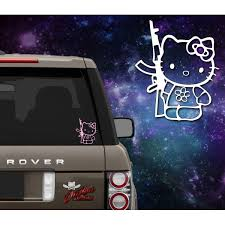 Hello Kitty Holding Ak47 Decal Outlaw Decals