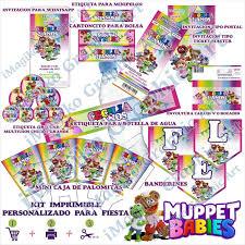 Muppet Babies Kit De Imprimibles Para Fiesta Personalizados Mesa