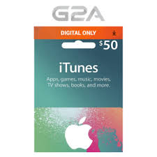 itunes gift card 50 usd 50 dollars