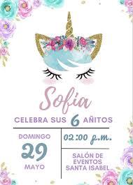 10 Invitaciones Cumpleanos Unicornios 55 00 En Mercado Libre