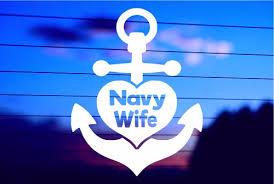 Navy Wife Car Decal Sticker