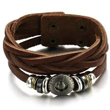 leather bracelet leather tie bracelet