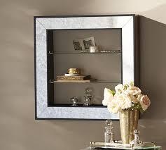 shelf mirror shadowbox pottery barn