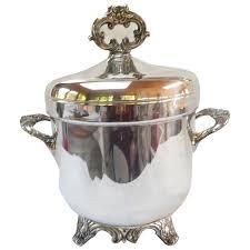 elegant silverplate ice bucket vintage