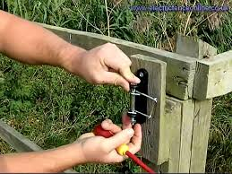 Electric Fence Tape Tensioner Insulator Install Youtube