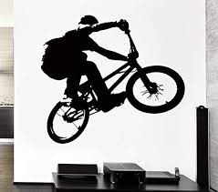 Amazon Com Wall Stickers Vinyl Decal Bmx Bike Bicycle Extreme Sport Decor For Living Room Zi Kitchen Dining