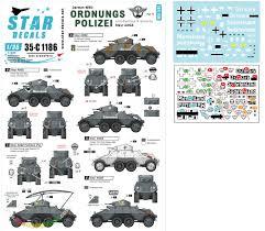 Star Decals Decals For 1 35 Ordnungs Polizei 1 Adgz 8x8 Armoured Car Anti Partisan Security