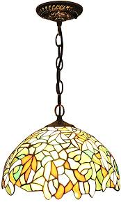 tiffany ceiling lamp stained glass