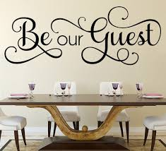 Be Our Guest Wall Sticker Guesthouse Wall Decal Disney Quote Etsy