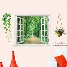 Creative 3d Effect Diy Removable Window Decal Wall Sticker Sale Price Reviews Gearbest