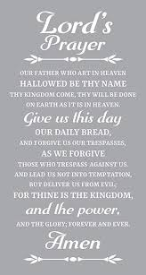 Amazon Com Prayer Wall Decal Is A Vinyl Wall Decal Displaying A Lord S Prayer Great Wall Art Artwork Sign Or Decorations For A Room Similar To Stickers Or Posters White Home